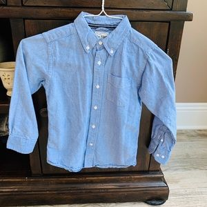 Boys Button Down Dress Shirt: Size 5/6
